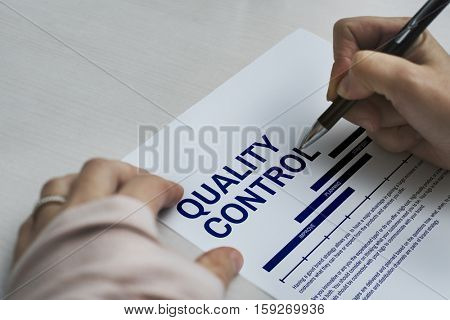 Quality Control Improve Strategy Concept