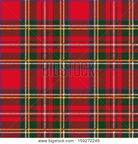 Tartan, plaid Seamless pattern. Wallpaper, wrapping paper, textile.Retro style.Fashion illustration, vector and background.Christmas, new year decor.Traditional red, black and green green scottish ornament