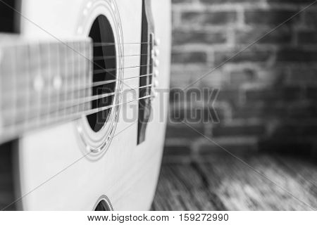 Free Space Wooden With Acoustic Guitar