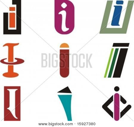Alphabetical Logo Design Concepts. Letter I. Check my portfolio for more of this series.