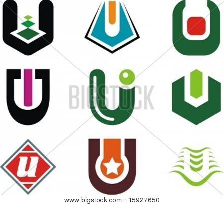 Alphabetical Logo Design Concepts. Letter U. Check my portfolio for more of this series.