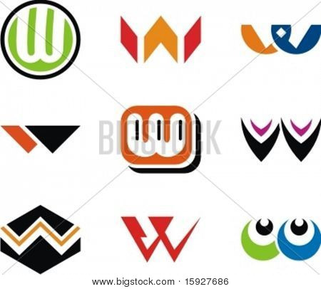 Alphabetical Logo Design Concepts. Letter W. Check my portfolio for more of this series.