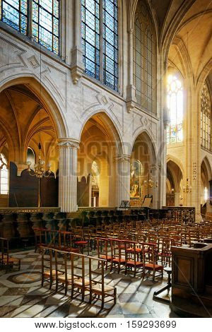 Сatholic Church Of Saint Germain Of Auxerre In Paris, France.