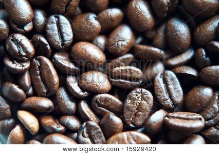 Closeup Of Rich Dark Coffee Beans