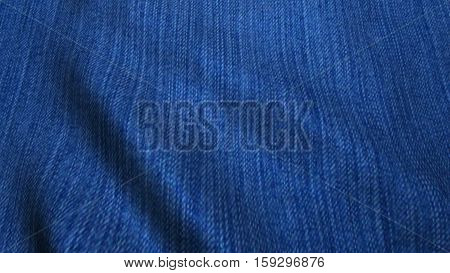 Realistic HD jeans cloth waving in the wind.