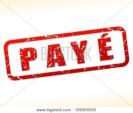 Illustration of paid buffered on white background