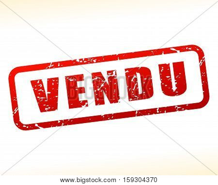 Illustration of sold buffered on white background
