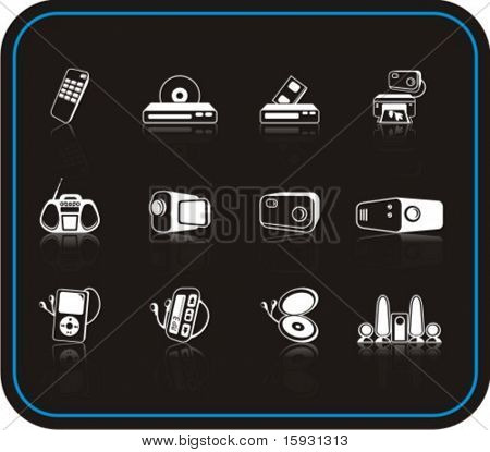 Exclusive Series of Media Icons. Check my portfolio for much more of this series as well as thousands of similar and other great vector items.