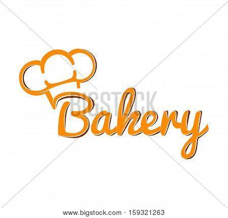 Chef Hat. Bakery Label. Baker Badge Vector Illustration Isolated On White Background