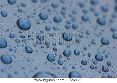 Steel Blue Waterdrops