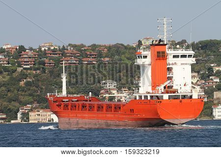 Orange Cargo Ship