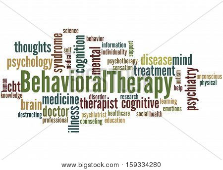 Behavioral Therapy, Word Cloud Concept 3