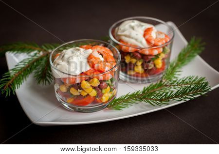 Mexican Prawn Salad With Mayonnaise Dressing