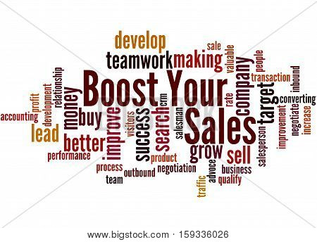 Boost Your Sales, Word Cloud Concept 7