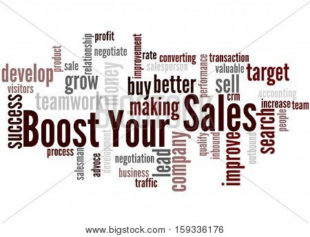 Boost Your Sales, Word Cloud Concept 8