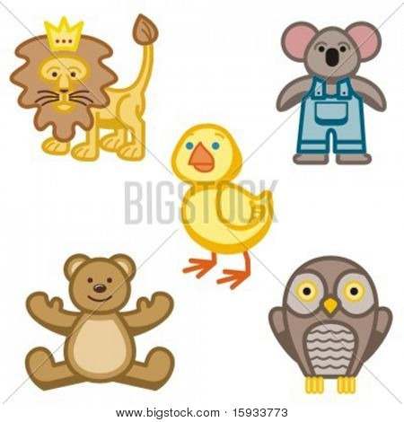 Baby icons series. Animals. Check my portfolio for much more of this series as well as thousands of similar and other great vector items.