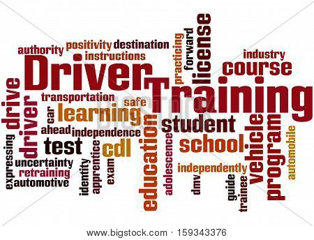 Driver Training, Word Cloud Concept