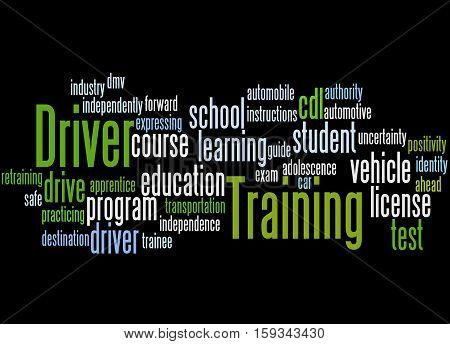 Driver Training, Word Cloud Concept 2