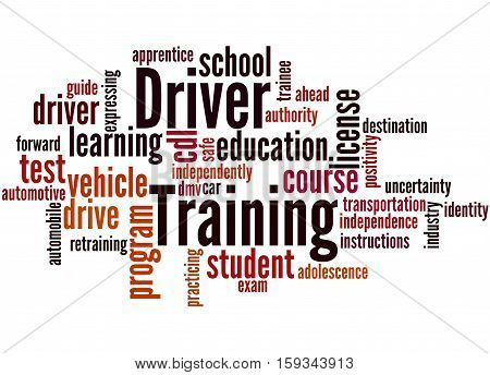 Driver Training, Word Cloud Concept 8