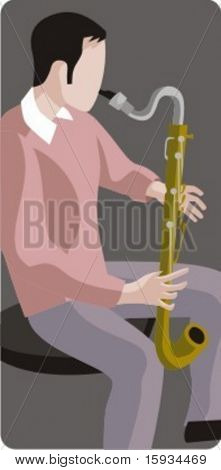 Musician vector illustration series. Musician. Check my portfolio for much more of this series as well as thousands of similar and other great vector items.