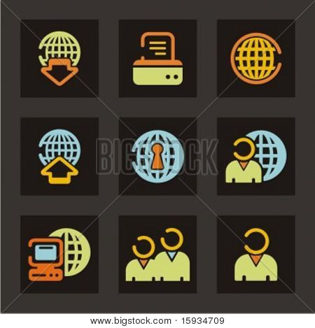 Web icons set. Networking. Check my portfolio for much more of this series as well as thousands of similar and other great vector items.