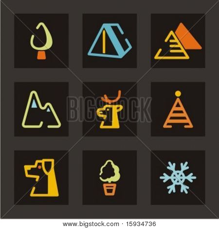 Conjunto de iconos de turismo. Comprobar mi cartera para mucho más de esta serie, así como miles de similares una