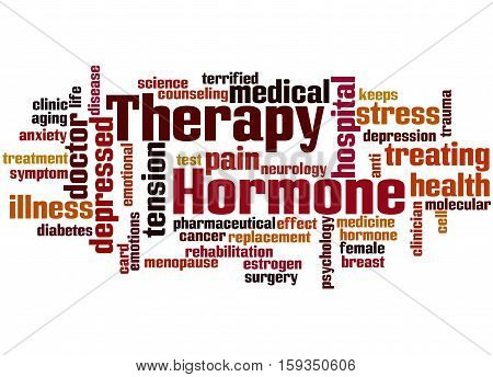 Hormone Therapy, Word Cloud Concept