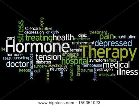 Hormone Therapy, Word Cloud Concept 6