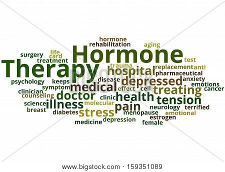 Hormone Therapy, Word Cloud Concept 8