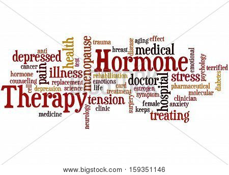 Hormone Therapy, Word Cloud Concept 9
