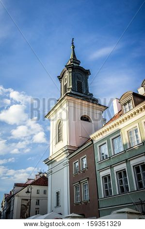 The St. Hyacinth's Church or St. Jacek was built by the Dominicans in the early seventeenth century New Town of Warsaw Poland