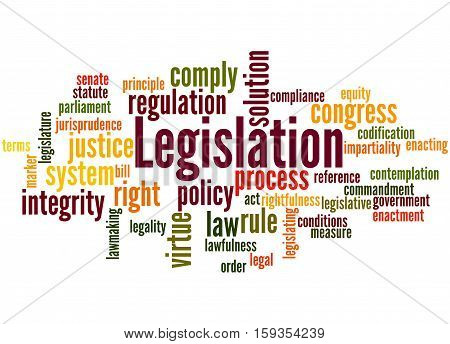 Legislation, Word Cloud Concept 3