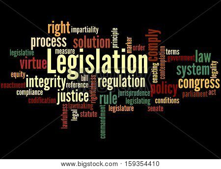 Legislation, Word Cloud Concept 5