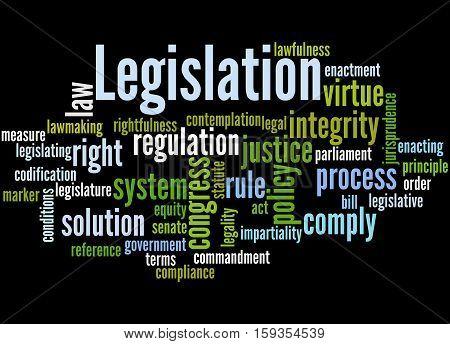 Legislation, Word Cloud Concept 6