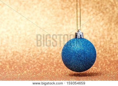Christmas Decorations On A Glitter Background