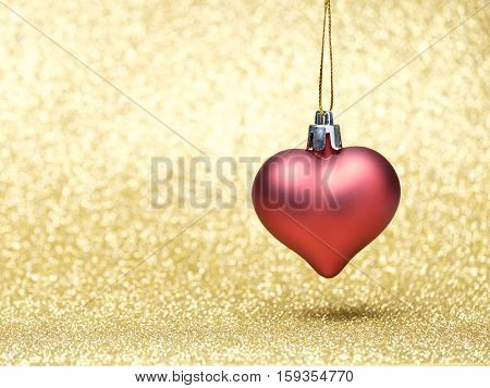 Star Christmas Decoration On A Glitter Background