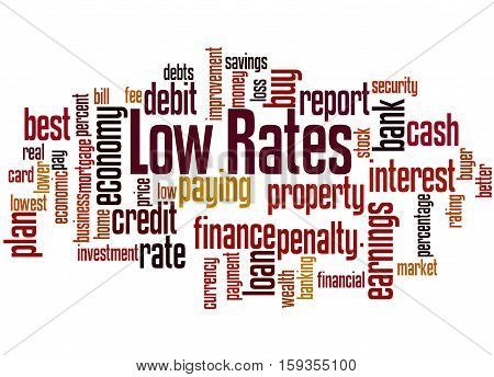 Low Rates, Word Cloud Concept