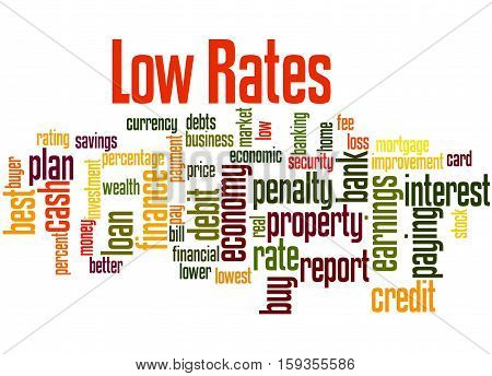 Low Rates, Word Cloud Concept 6
