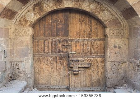Old wooden door in Cairo, Egypt