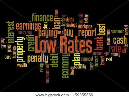Low Rates, Word Cloud Concept 9