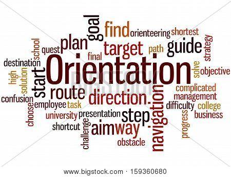 Orientation, Word Cloud Concept 2