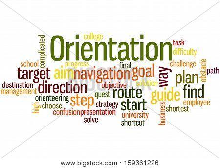 Orientation, Word Cloud Concept 6