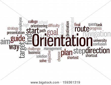 Orientation, Word Cloud Concept 7