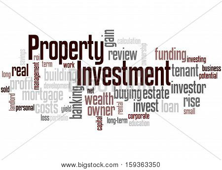 Property Investment, Word Cloud Concept 2
