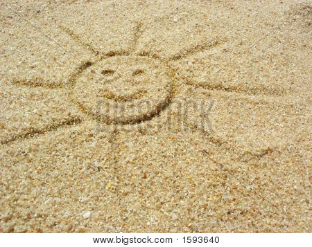 Sun On The Sand With Smille