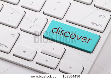 Discover word written on computer keyboard .