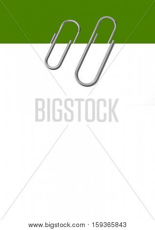 Paper clips isolated on a white background