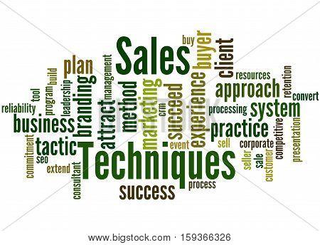 Sales Techniques, Word Cloud Concept 2