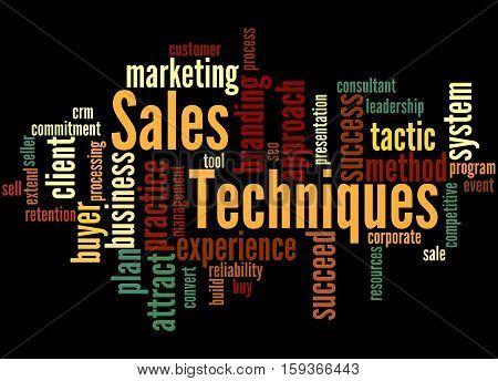 Sales Techniques, Word Cloud Concept 4