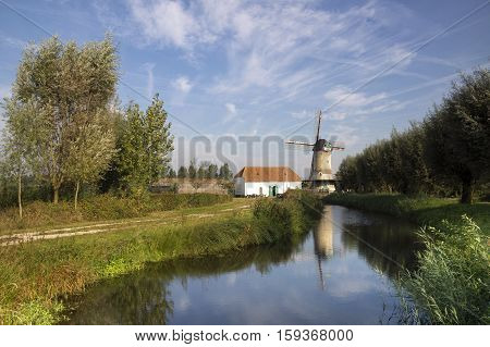 The Kilsdonkse windmillThe Kilsdonkse mill on the river Brabantse Aa near the Dutch village Dinther is a unique combination of windmill and watermill